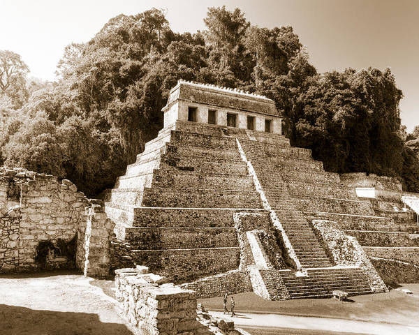 Wall Art - Photograph - Long Ago In Mayan Palenque by Mark Tisdale