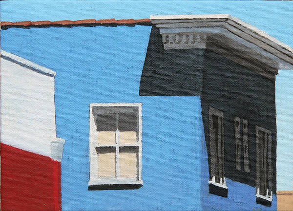 Stucco Wall Art - Painting - Long Beach Cornice by Michael Ward