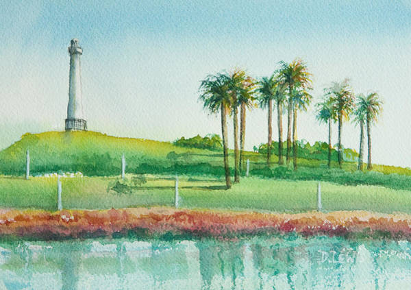 Painting - Long Beach Lighthouse by Debbie Lewis