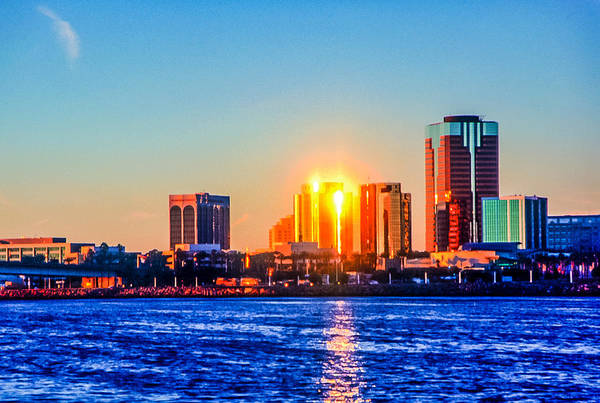 Photograph - Long Beach Sunset by Jim DeLillo