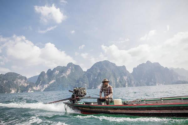 Long Boat Driver Art Print