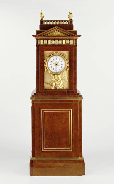 Ashes Drawing - Long Case Musical Clock Clock Case By David Roentgen by Litz Collection
