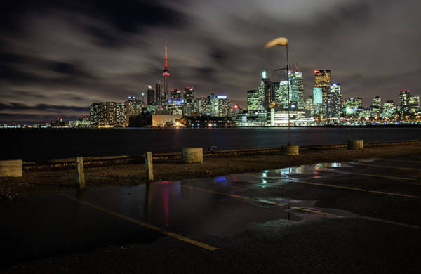 Canada Photograph - Long Exposure Of Toronto Skyline At by Photographed By Dan Cronin-toronto Canada