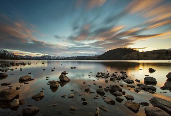 Ullswater Photograph - Long Exposure Sunset Over Ullswater by Verity E. Milligan