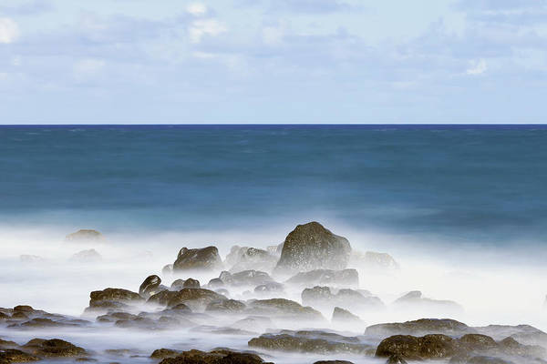 Wall Art - Photograph - Long Exposure Surf Along The Kealia by Ian Ludwig