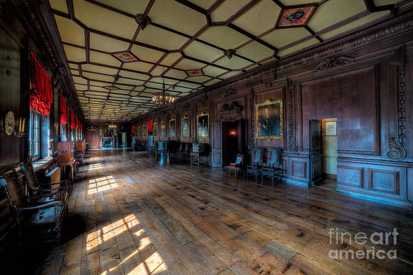 Fire Place Photograph - Long Gallery by Adrian Evans