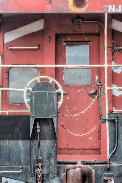 Red Caboose Photograph - Long Gone by JC Findley