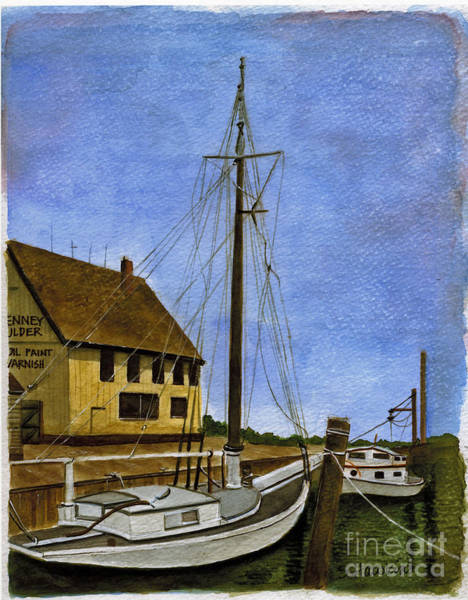 Wall Art - Painting - Long Island Marina by Sheryl Heatherly Hawkins