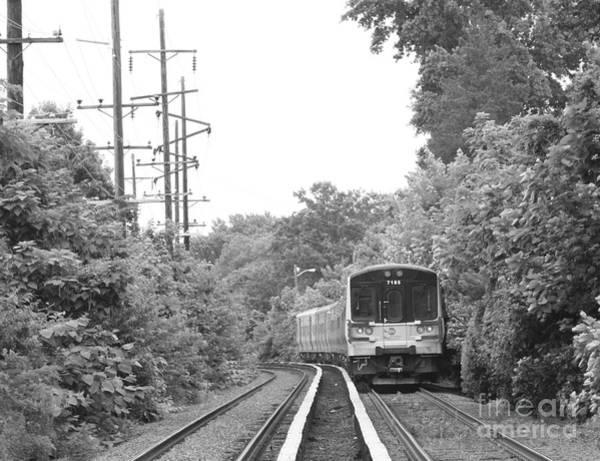 Wall Art - Photograph - Long Island Railroad Pulling Into Station by John Telfer