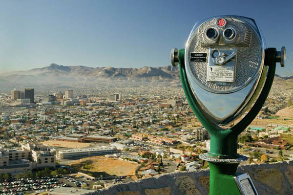 El Paso County Photograph - Long Range Binoculars For Tourists by Panoramic Images