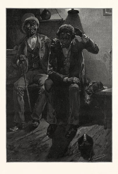 Early American History Drawing - Long-suffering And Patient Race, Engraving 1880 by American School