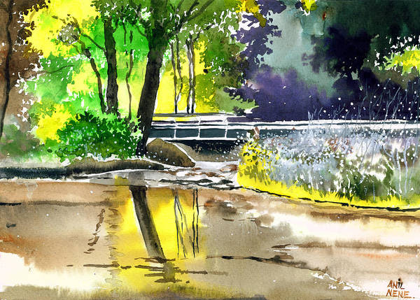 Painting - Long Time No See by Anil Nene