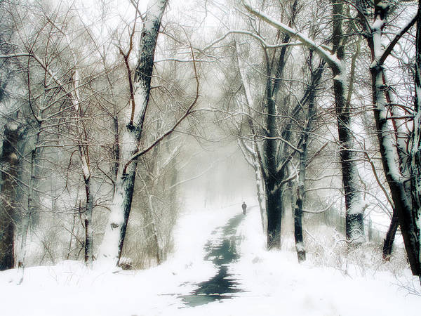 Snow Man Photograph - Long Way Home by Jessica Jenney