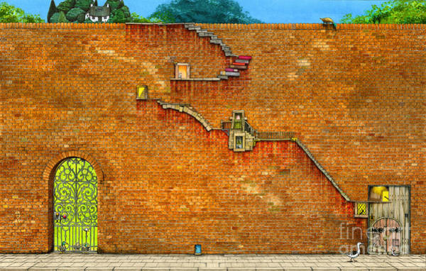 Puzzle Digital Art - Long Way To The Top by MGL Meiklejohn Graphics Licensing