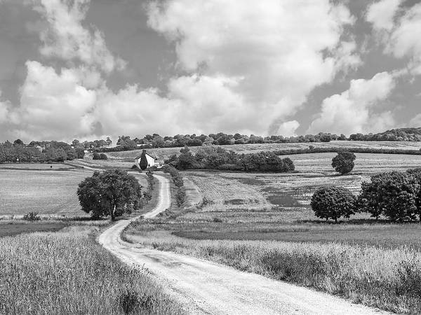 Photograph - Long Winding Road In Black And White by Gill Billington