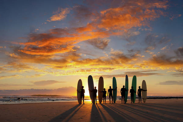 Water Sport Photograph - Longboard Sunrise by Turnervisual