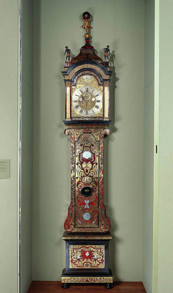1715 Drawing - Longcase Clock, Anonymous, Andries Vermeulen Watchmaker by Quint Lox