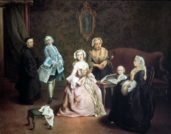 Painting - Longhi Family Concert by Granger