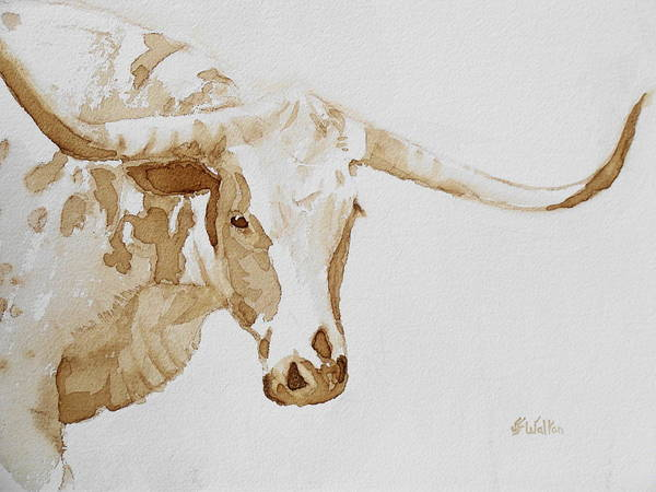 Longhorns Wall Art - Painting - Longhorn by Judy Fischer Walton
