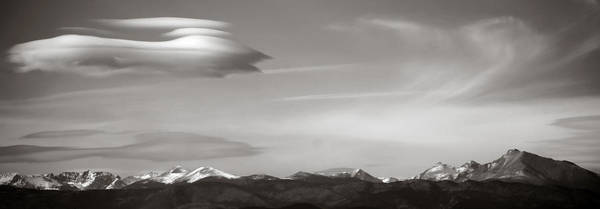 Photograph - Longs Peak And Lenticular Clouds by Marilyn Hunt