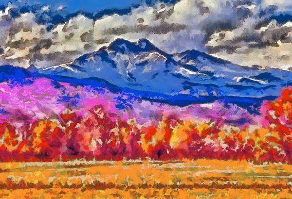 Photograph - Longs Peak - Bierstadt by Charles Muhle