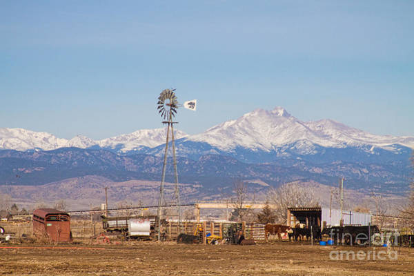Photograph - Longs Peak Rural Country Scenic View by James BO Insogna