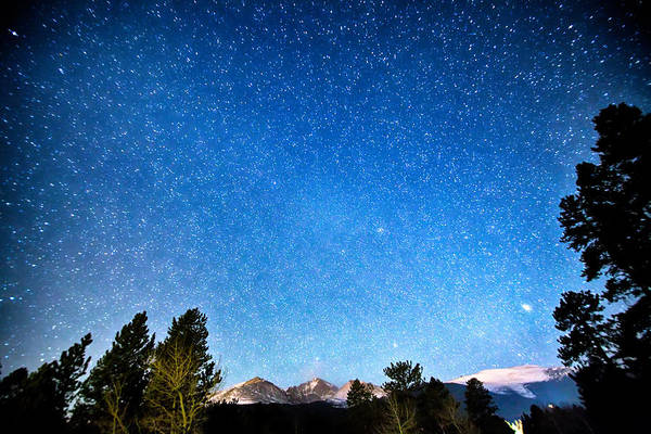 Photograph - Longs Peak Stargazing Colorado by James BO Insogna