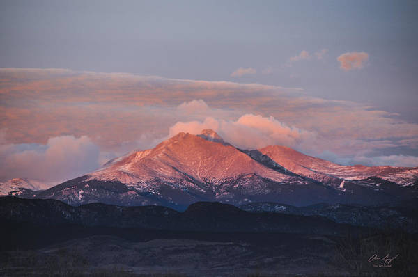 Foothills Wall Art - Photograph - Longs Peak Sunrise by Aaron Spong