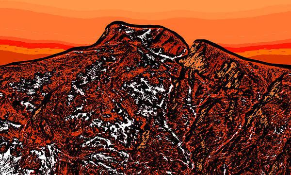 Wall Art - Digital Art - Longs Peak - Colorado by David G Paul