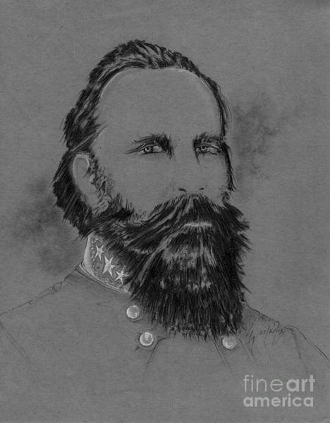 Confederate Soldier Drawing - Longstreet's Reluctance by Scott and Dixie Wiley