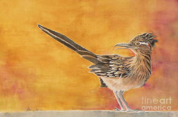 Roadrunner Painting - Look Both Ways by Catalina Rankin
