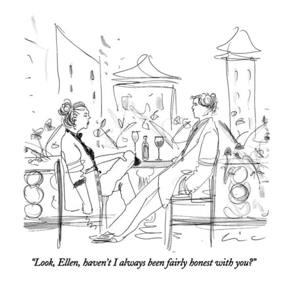 Insecurity Drawing - Look, Ellen, Haven't I Always Been Fairly Honest by Richard Cline