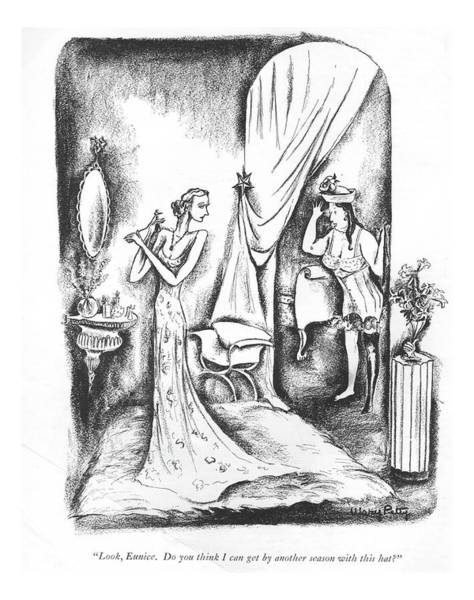 July 1st Drawing - Look, Eunice. Do You Think I Can Get By Another by Mary Petty