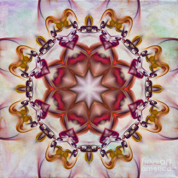 Digital Art - Look Into The Center by Deborah Benoit