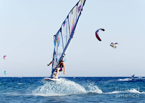 Watersports Photograph - Look No Hands by Stelios Kleanthous