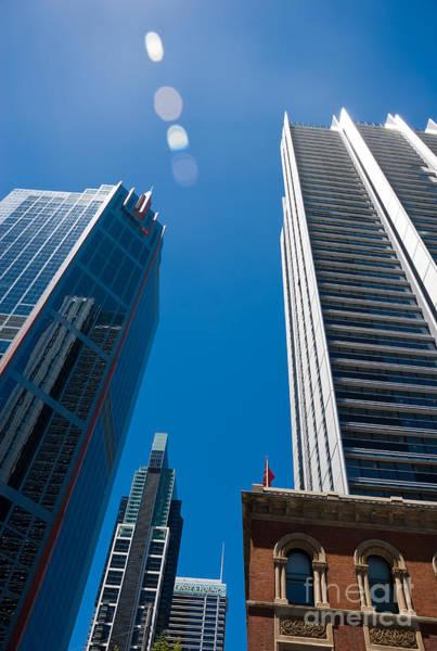 Look Up To The Sky - Skyscrapers In Sydney Australia Art Print