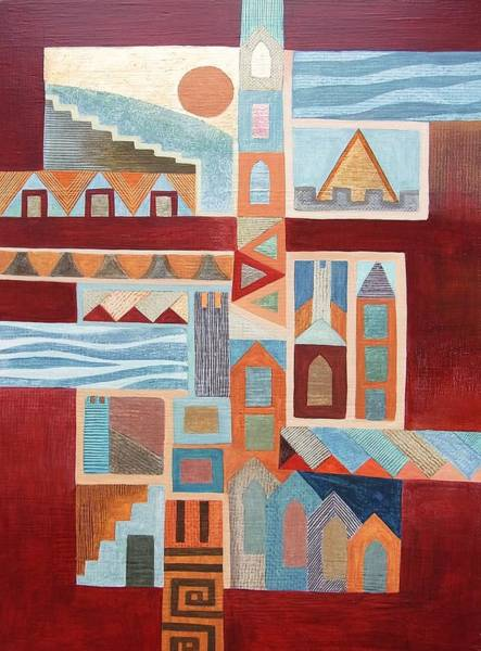 Wall Art - Painting - Looking Across Old Town. by Jennifer Baird