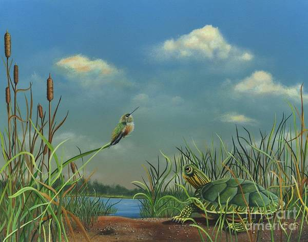 Painting - Looking At Clouds by Rosellen Westerhoff