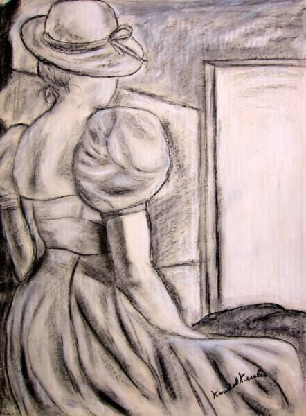 Drawing - Looking At The Light by Kendall Kessler