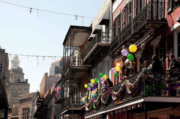 Louisiana Photograph - Looking Down Bourbon St Toward New by Peter Ptschelinzew