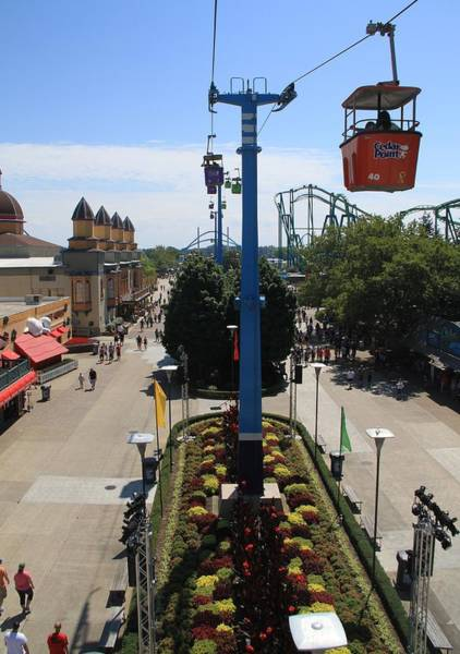 Photograph - Looking Down On Cedar Point by Dan Sproul