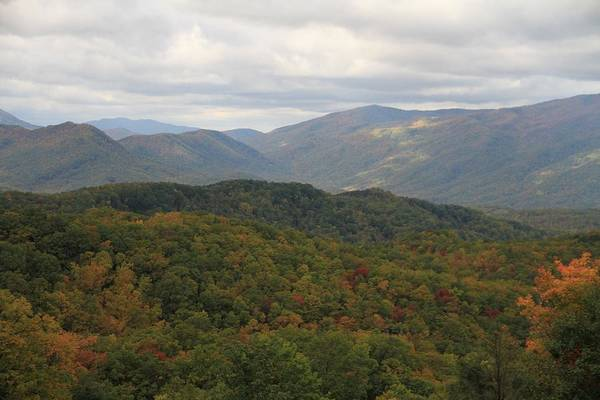 Photograph - Looking Down On The Majestic Smokies by Dan Sproul