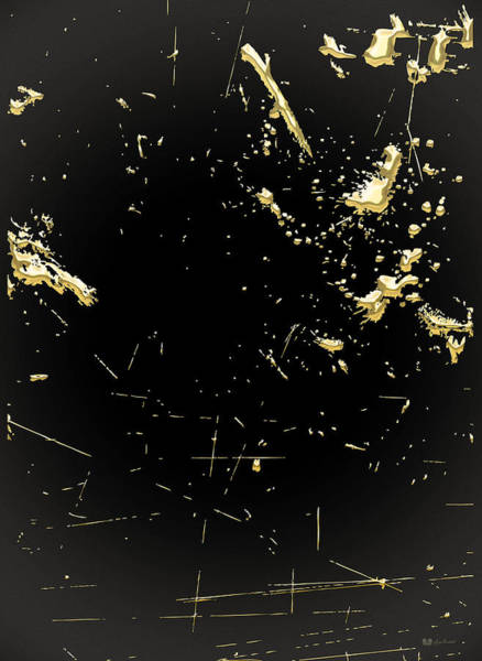 Digital Art - Looking For Gold - Gold Nuggets On Black I by Serge Averbukh