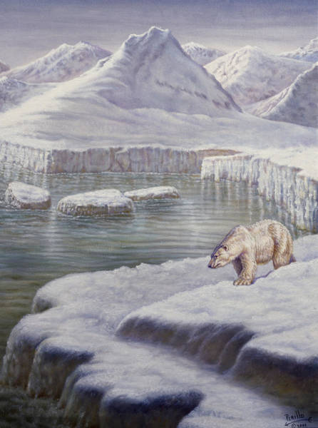 Wall Art - Painting - Looking For Salmon by Gregory Perillo