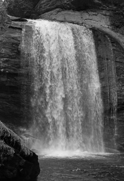 Wall Art - Photograph - Looking Glass Falls - Black And White by Suzanne Gaff