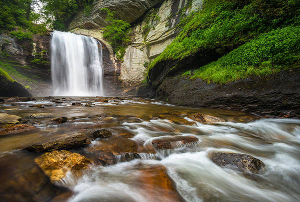 Photograph - Looking Glass Falls - North Carolina Blue Ridge Waterfalls Wnc by Dave Allen