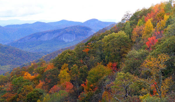 Photograph - Looking Glass Rock And Fall Colors by Duane McCullough