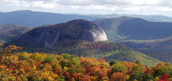 Photograph - Looking Glass Rock And Fall Folage by Duane McCullough
