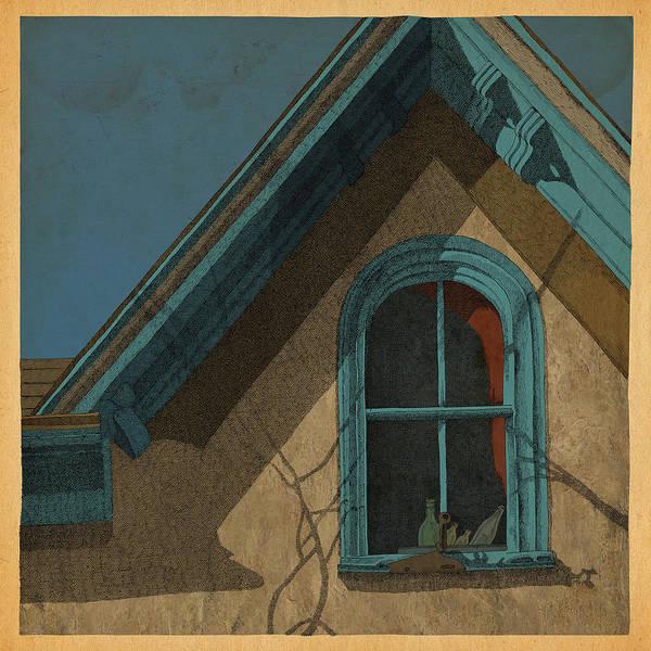 Window Drawing - Looking In by Meg Shearer