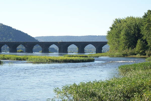 Rockville Photograph - looking north at the Rockville Bridge   # by Rob Luzier